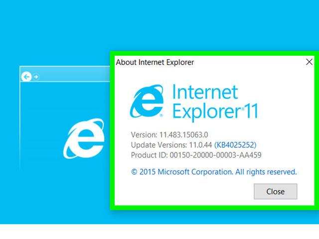 Browser Internet Explorer đã phát triển đến phiên bản 11 với nhiều cải tiến