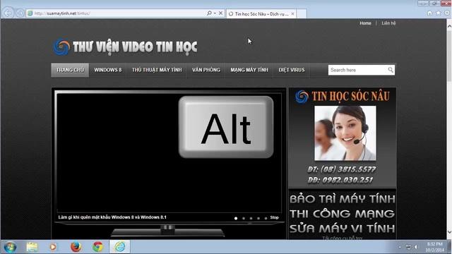 Nhấn phím Alt, chọn Help, chọn About Internet Explorer bạn sẽ biết máy tính đã cài đặt thành công IE 11