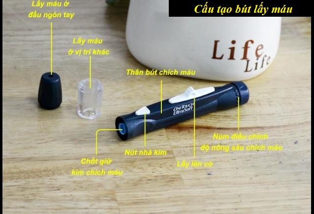 Thiết kế bút lấy máu của máy đo One Touch Ultra